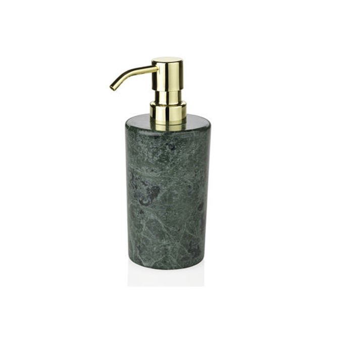 Andrea House Диспенсер для жидкого мыла Marble Green and Gold BA65054